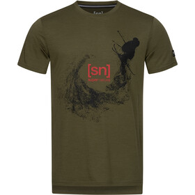super.natural Graphic Tee Men olive night/jet black freestyle